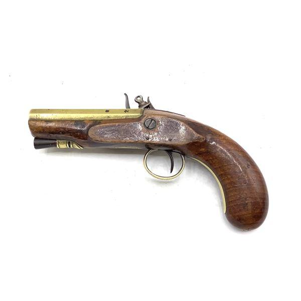 Antique Brass Flintlock Pistol