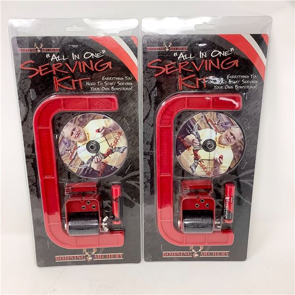 """2 Bohning Archery """"All-in-One"""" Serving Kit, New"""