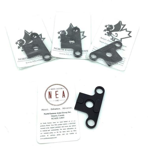 4 NEA VZ58 Single Point Sling Plates, New
