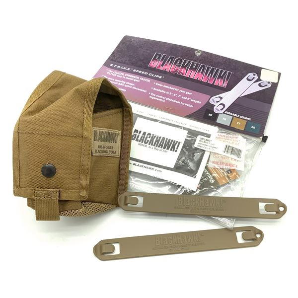 Blackhawk Double M14 Pouch with Divider & Speed Clips, New