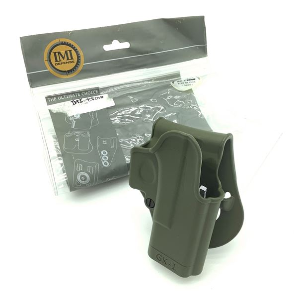 IMI Defense Right Handed One Piece Polymer Paddle Holster for Glock, New