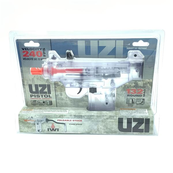 UZI Tactical Airsoft Pistol with Foldable Stock, New