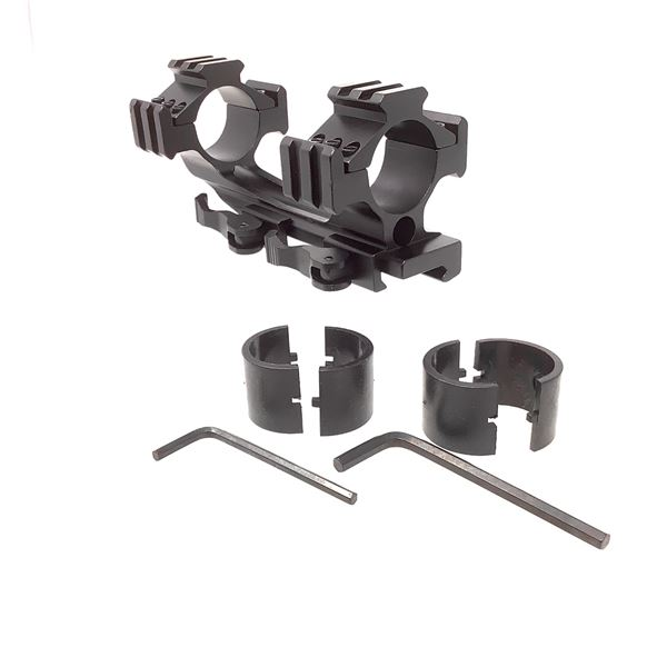 """Cantilever Scope Mount 30mm/1"""" with Tri-Rail Accessory Mount, New"""