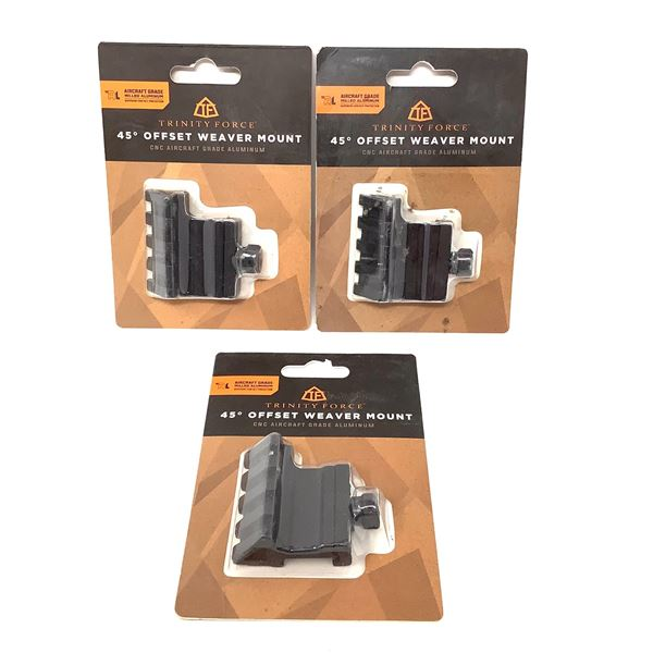 3 Trinity Force 45 Degree Offset Weaver Mount, New