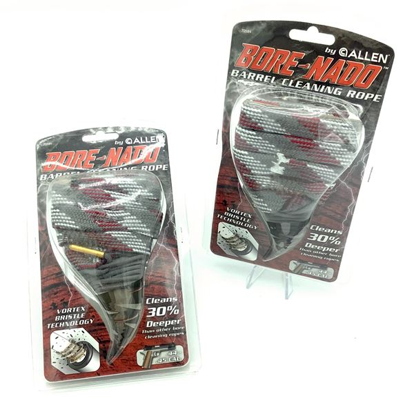 2 Allen Bore-Nado Barrel Cleaning Rope for .40-.45 Cal, New