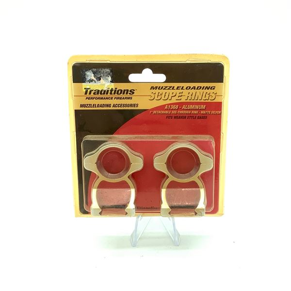 Traditions Muzzle Loading Detachable Scope Rings, New