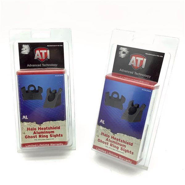 2 ATI Halo Heatshield Aluminum Ghost Ring Sights, New