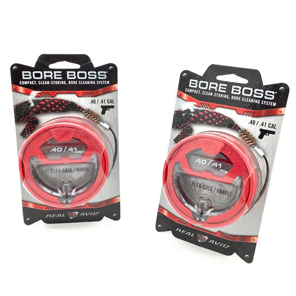 2 Real Avid Bore Boss Bore Cleaning System for .40-.41 Cal, New