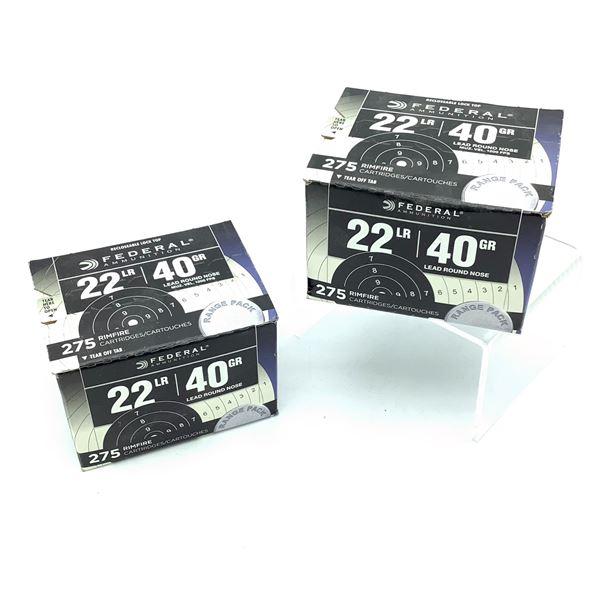 Federal 22LR Range Pack Ammunition - 550 Rnds