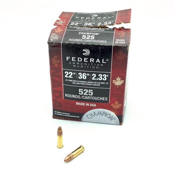 Federal Champion 22LR Ammunition - 525 Rnds