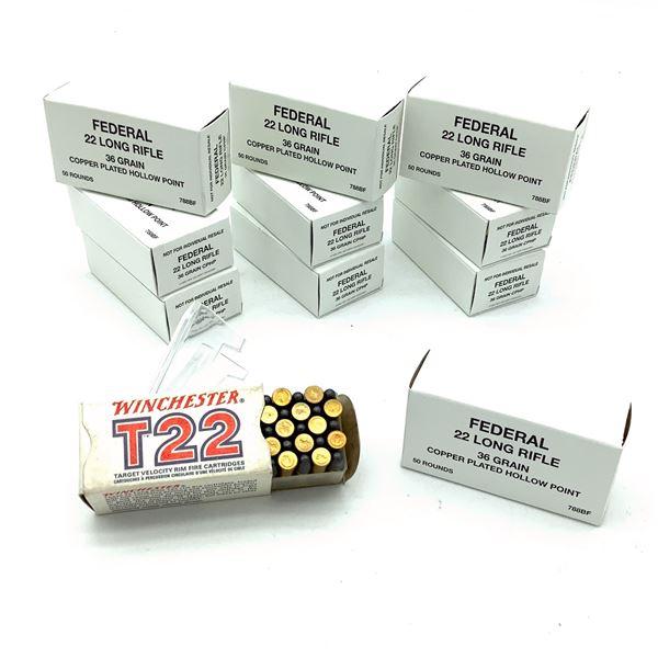 Assorted 22LR Ammunition - 550 Rnds