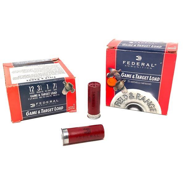 Federal Game & Target Load 12ga Ammunition - 50 Rnds