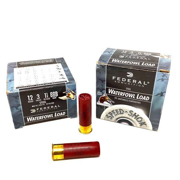 Federal Waterfowl Steel 12ga Ammunition - 50 Rnds