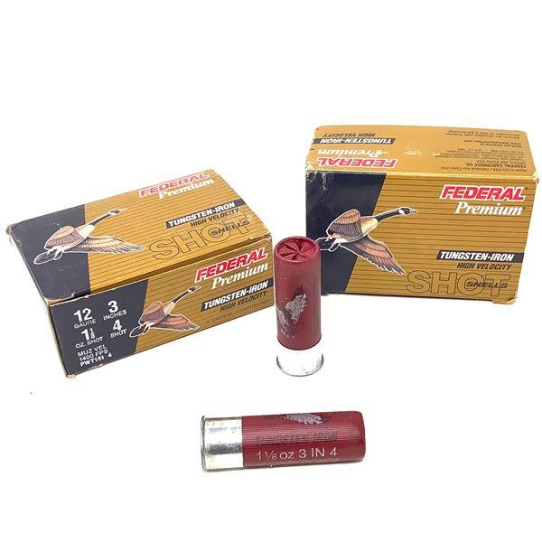 """Federal Premium 12 Ga Tungsten-Iron 3"""" #4 Ammunition, 20 Rounds"""