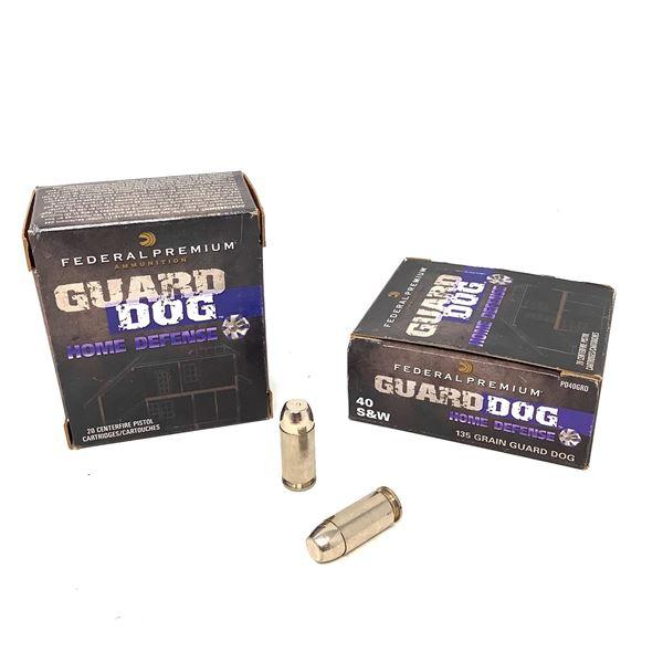 Federal Guard Dog 40 S & W, 135 Grain Ammunition, 40 Rounds