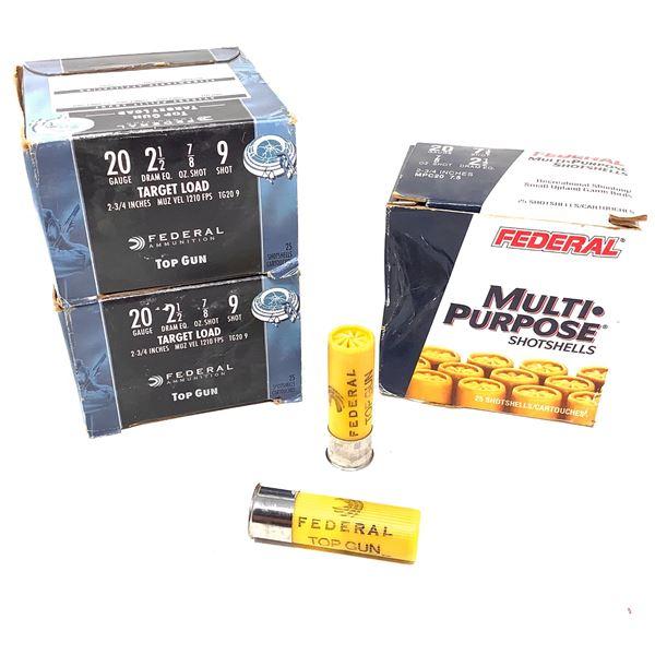 Assorted Federal 20ga Ammunition - 75 Rnds
