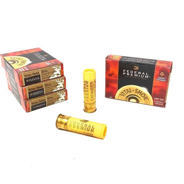 Federal Vital-Shok 20ga Sabot Slug Ammunition - 20 Rnds
