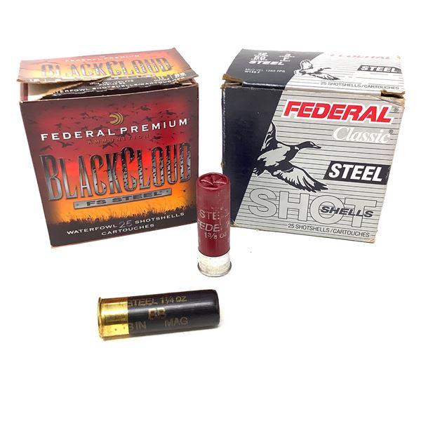 Assorted Federal Steel 12ga Ammunition - 50 Rnds
