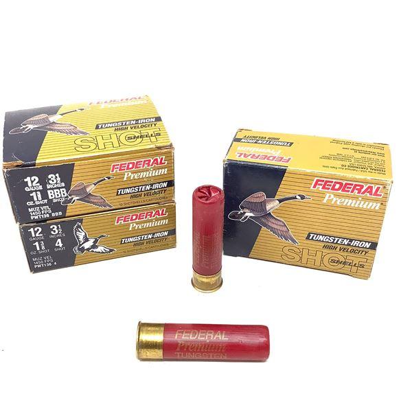 Assorted Tungsten-Iron 12ga Ammunition - 30 Rnds