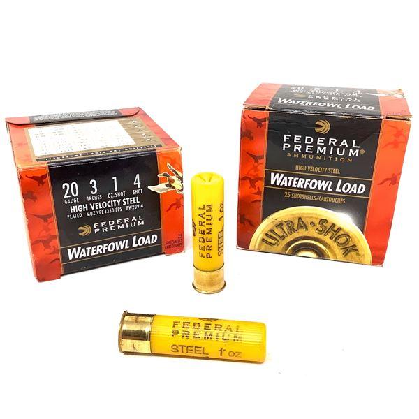 Federal Waterfowl Steel 20ga Ammunition - 50 Rnds