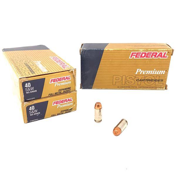 Federal Premium 40 S & W 165 Gr Expanding FMJ Ammunition, 150 Rounds