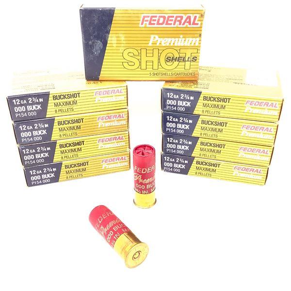 Federal Premium 12ga Buckshot Ammunition - 45 Rnds