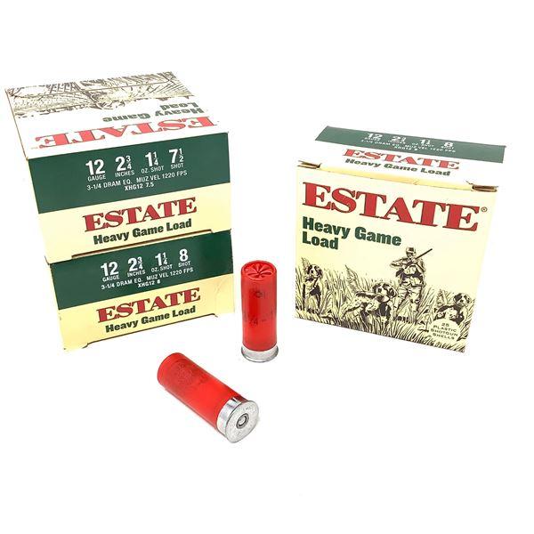 Estate Heavy Game Load 12ga Ammunition - 75 Rnds