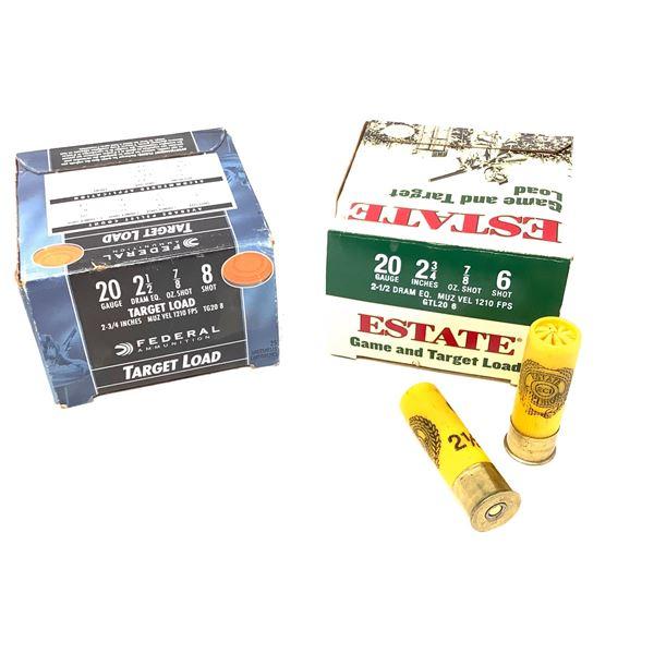 Assorted 20ga Target Load Ammunition -50 Rnds