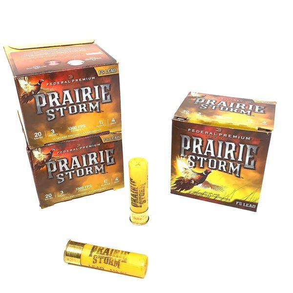Federal Prairie Storm Lead 20ga Ammunition - 75 Rnds
