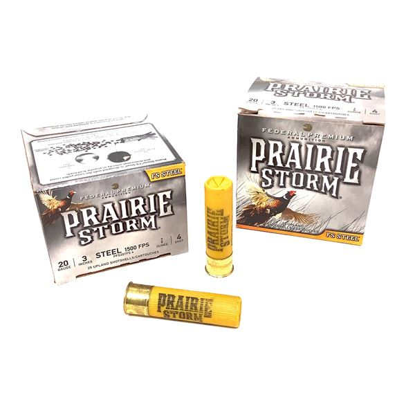 "Federal Prairie Storm 20 Ga 3"" #4 Ammunition, 50 Rounds"