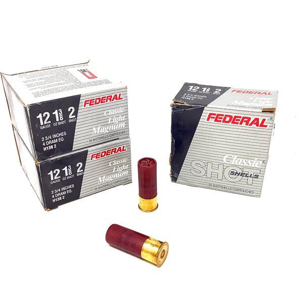 Federal Classic Light Magnum 12ga Ammunition - 75 Rnds