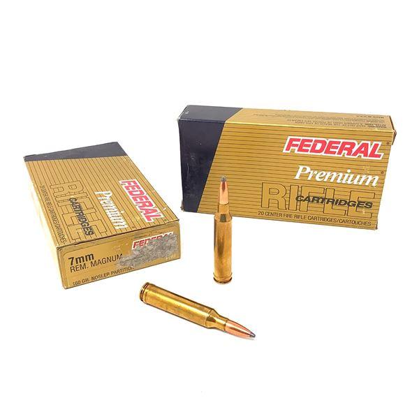Federal Premium 7mm Rem Mag 160 Grain Nosler Partition Ammunition, 40 Rounds