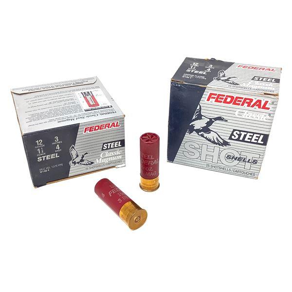 Federal Classic Steel Magnum 12ga Ammunition - 50 Rnds