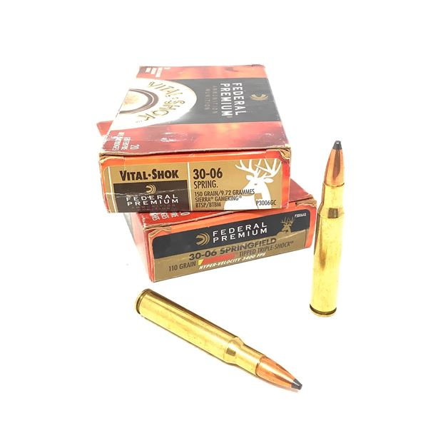 Federal Vital Shok 30-06 SPRG Ammunition, 40 Rounds