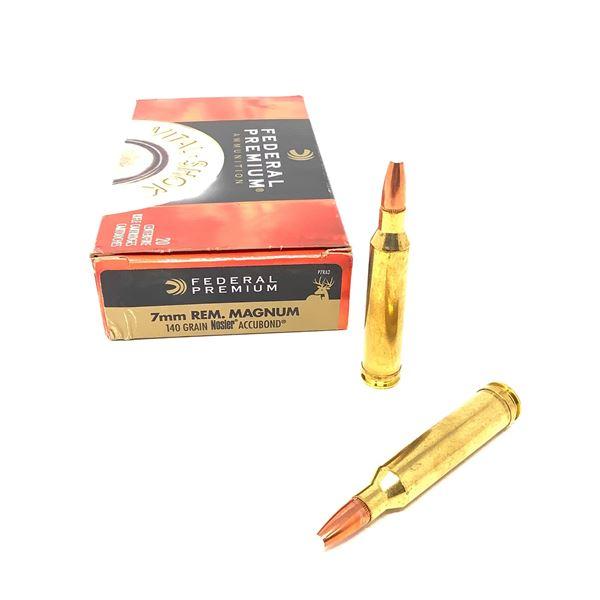 Federal Vital Shok 7 mm Rem Mag 140 Grain Nosler Accubond Ammunition, 20 Rounds