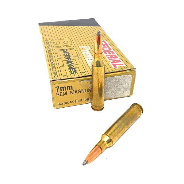 Federal Premium 7 mm Rem Mag 160 Grain Nosler Partition Ammunition, 20 Rounds