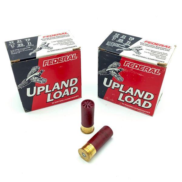 "Federal Upland 12 Ga 2 3/4"", #7.5 Ammunition, 50 Rounds"