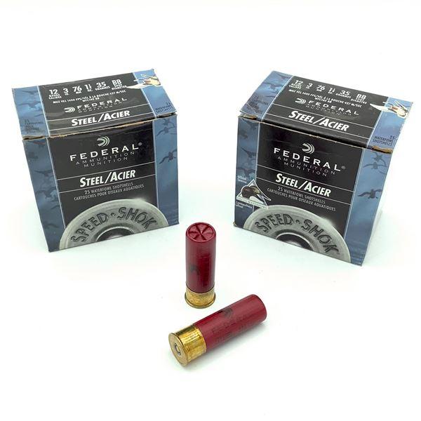 "Federal Steel 12 Ga 3"" BB Ammunition, 50 Rounds"