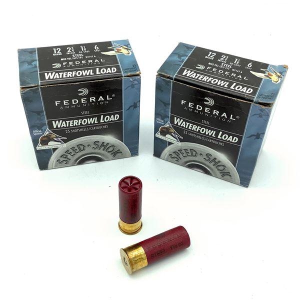 "Federal Waterfowl 12 Ga 2 3/4"" #6 Ammunition, 50 Rounds"