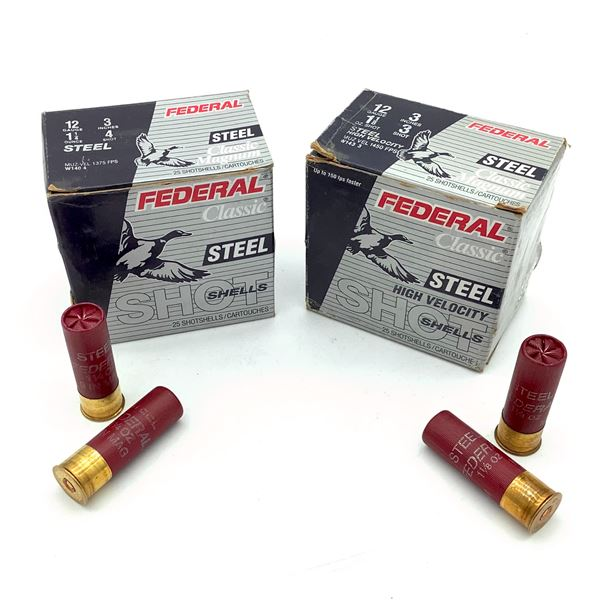 "Federal Steel Classic Magnum 12 Ga 3"" Ammunition, 50 Rounds"