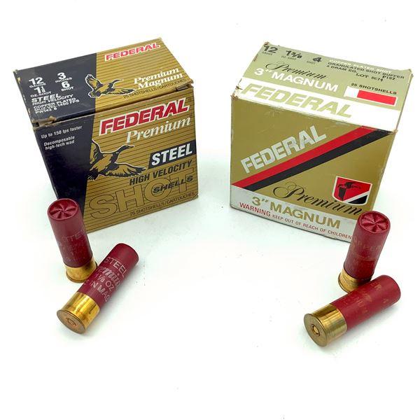 "Federal Premium 12 Ga 3"" Ammunition, 50 Rounds"