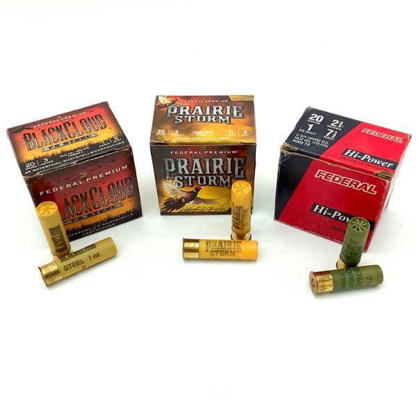 Assorted Federal 20 Ga Ammunition, 75 Rounds