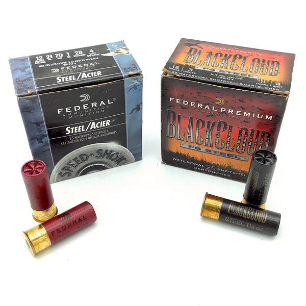 Federal Steel 12 Ga #4 Ammunition, 50 Rounds
