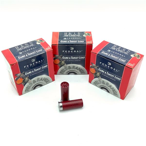 """Federal Game and Target 12 Ga 2 3/4"""", #7.5 Ammunition, 75 Rounds"""