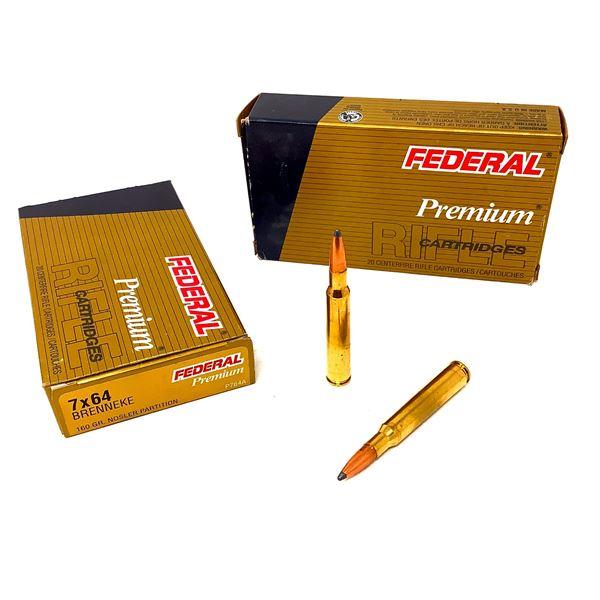 Federal Premium 7 x 64 Brenneke Nosler Partition Ammunition - 40 Rnds