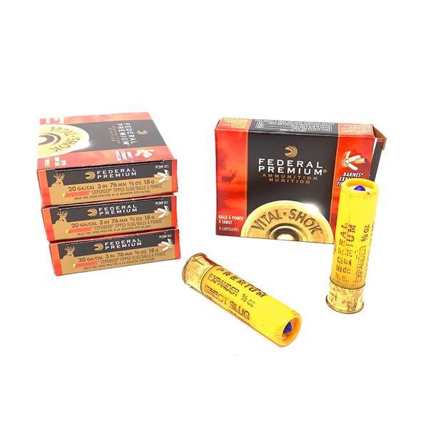 Federal 20ga Barnes Expander Ammunition - 20 Rnds