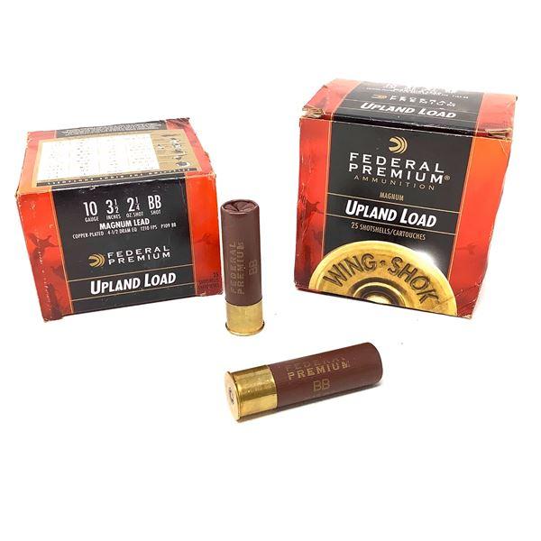 Federal Magnum Lead 10ga Ammunition - 50 Rnds