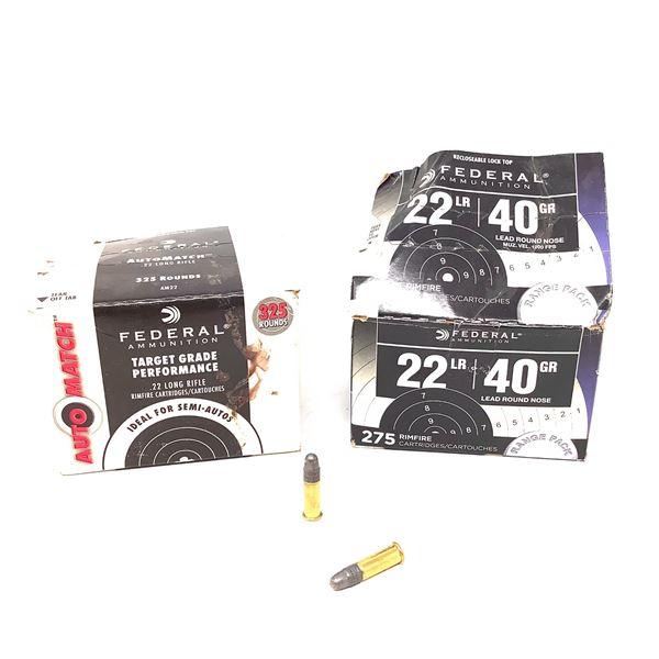 Assorted Federal 22LR Ammunition - 600 Rnds