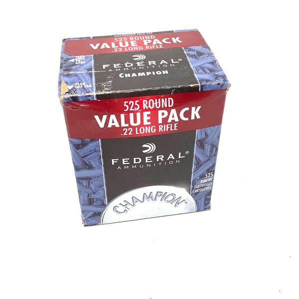 Federal Champion 22LR Value Pack - 525 Rnds