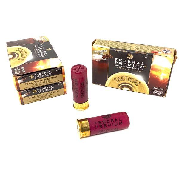 Federal Law Enforcement 12ga Buckshot Ammunition - 15 Rnds